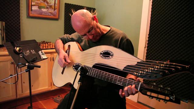 from a video of Henry Kaiser plays the Beardsell harp guitar