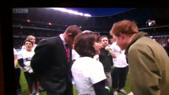 The Rampant Runners at Twickenham with Prince Harry