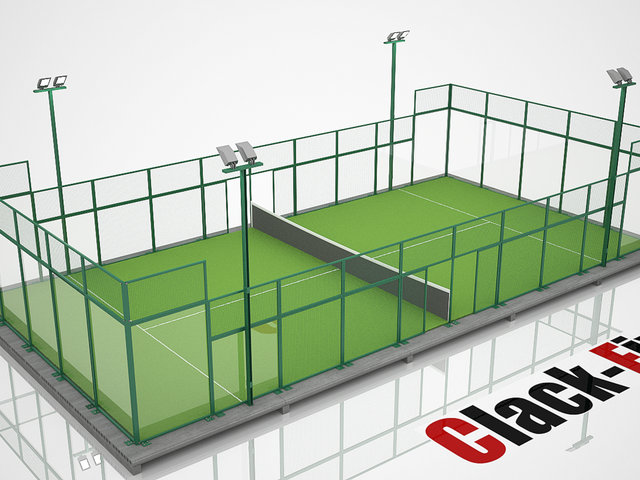 Thumbnail of video Modular padel court animation