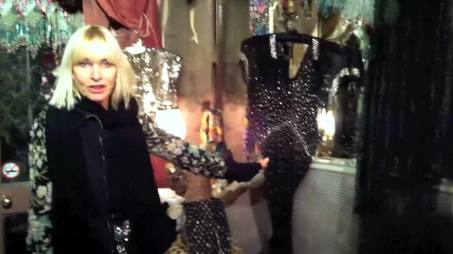 TOUR OF HER VIRGINA ANTIQUE CLOTHING STORE IN HOLLAND PARK, LONDON