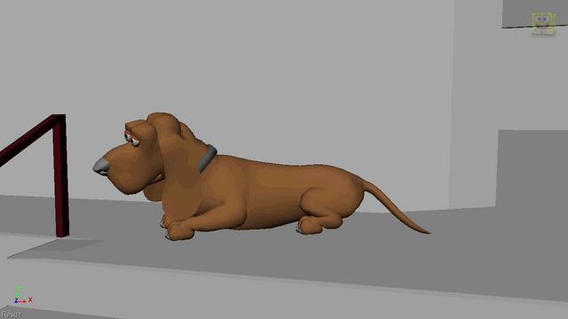 Dog animation using gear