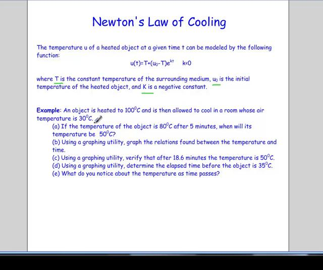 newtons law of cooling The newtons law of cooling is given by where tt is the temperature at time t and  ts is the temperature of the surrounding, k is a constant the newton s law of.