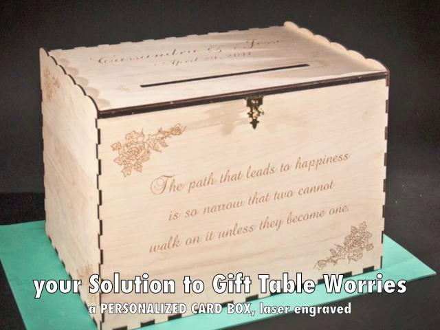 Wedding GIFT CARD Box