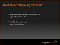 Destination Marketing Webinar - Search: Powering Your Marketing Mix