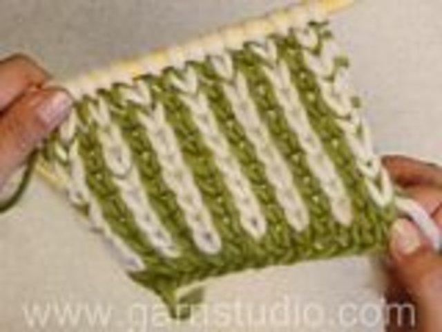 Knit Stitch One Row Below : DROPS Knitting Tutorial: How to knit one below aka K1b on Vimeo