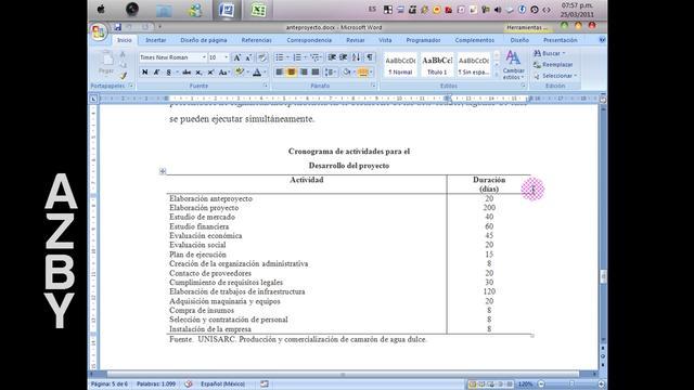 Descargar Cronograma De Actividades En Excel