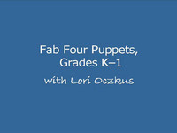 Fab Four Puppets from Reciprocal Teaching at Work by L.D. Oczkus