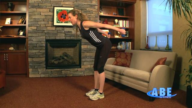Home: Upper body workout combined standing, sitting and on the floor 4