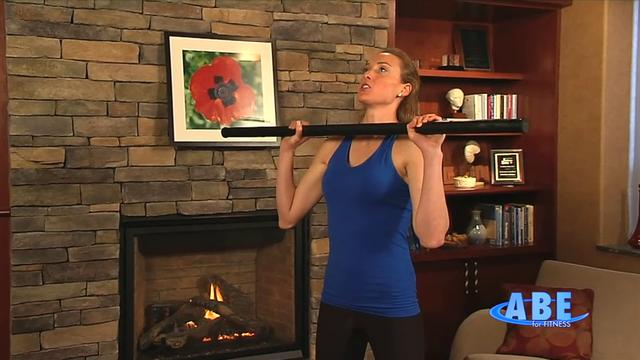Home: Upper body workout combined standing, sitting and on the floor 6
