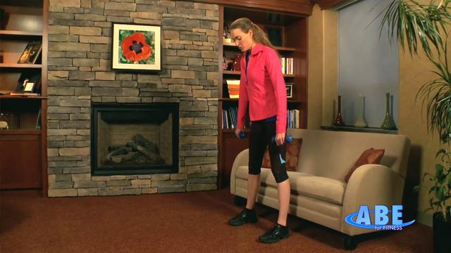 Home: Lower body workout combined standing, sitting and on the floor 4