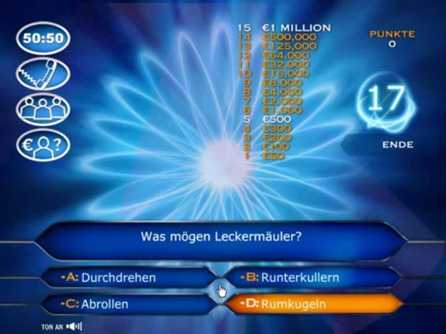wer wird millionär online spielen