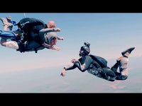 Skydiving with 12.5mm Computar CCTV lens on GH2, bright sunlight, color graded