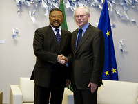 Meeting with Jean PING, President of the Commission of the African Union