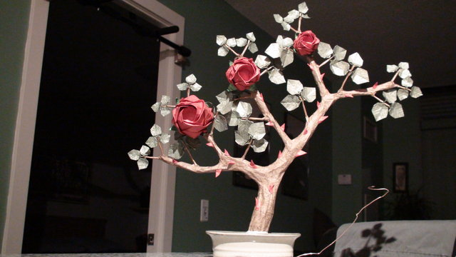 Origami Rose Bush Bonsai-1 - Trunk on Vimeo