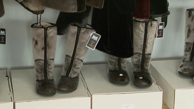 Boots In  Shoe Shop