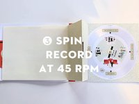 Paper Record Player Wedding Invite