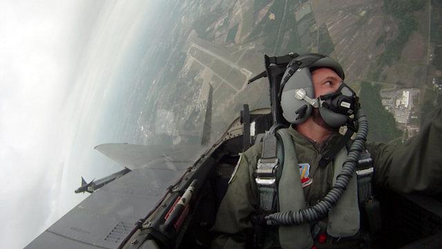 Flying in an F-15E Strike Eagle