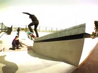 JT Aultz and Chad Bartie test out the new Apple Valley skate park for ASD