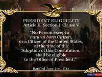 Natural Born Citizen Crisis - Presidential Usurpation