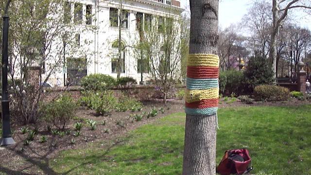 Singing Yarn Bomb