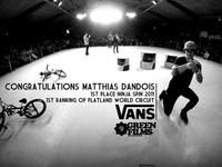 VANS . congratulations Matthias DANDOIS