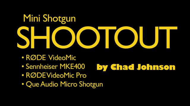 Shotgun Microphone Shootout