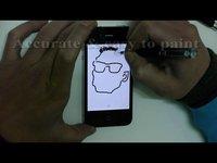 iPad2 iPhone4 iPhone5 capacitive stylus DAGi Accu Pen P503 sketchbook pro brushes paint draw note