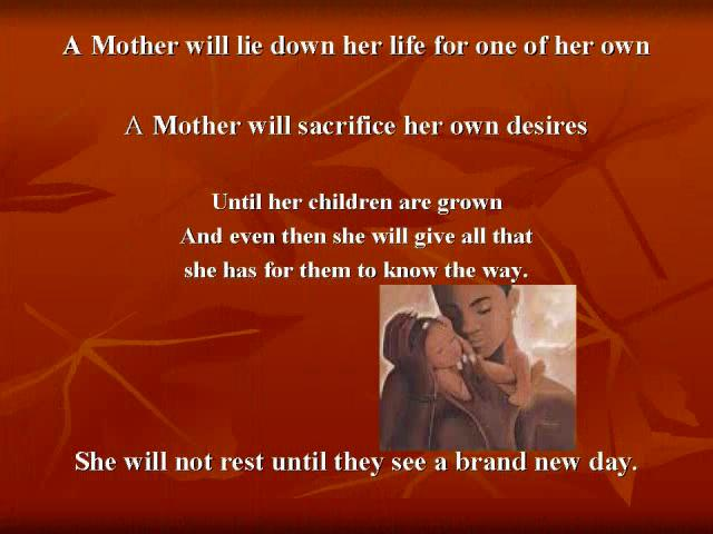 Mother's Love Inspirational Poem for Mothers Day 2011