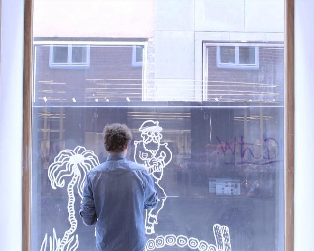 Window Painting By Dan Berglund