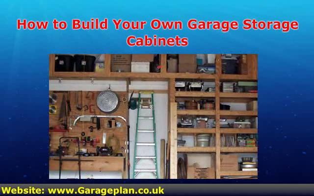 how to build garage storage
