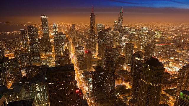 Skaists naksnīgu pilsētu timelapse video