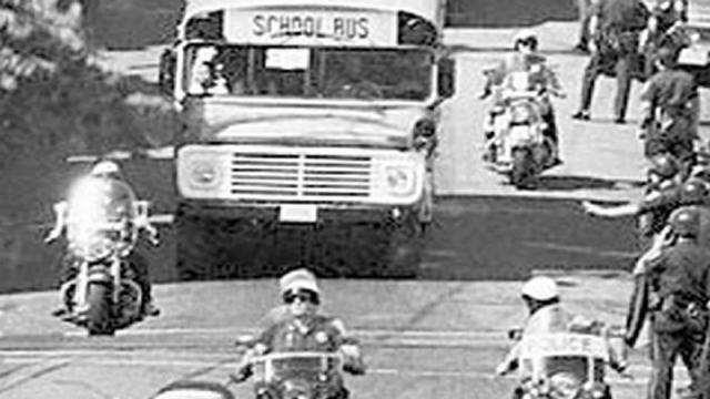 bostons busing crisis In boston, massachusetts, opposition to court-ordered school busing turns violent on the opening day of classes school buses carrying african american children were pelted with eggs, bricks, and bottles, and police in combat gear fought to control angry white protesters besieging the schools.