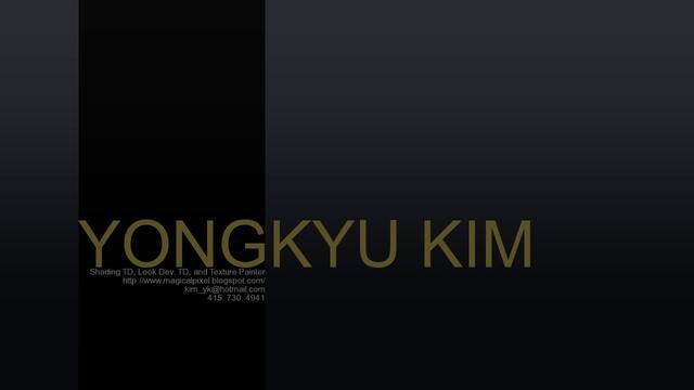 Yongkyu Kim Demo Reel 2011