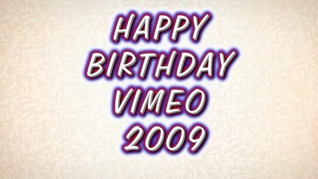 Vimeo's Birthday 2009