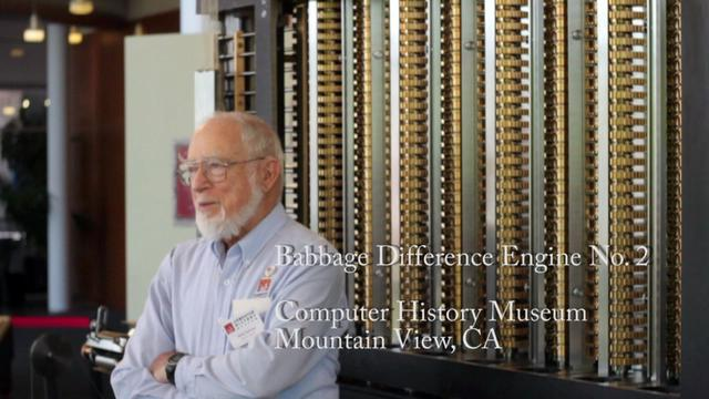 Babbage Difference Engine No. 2 - Talk and Demonstration