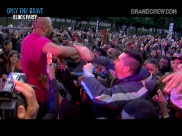 Common live and crowd surfing @ Diesel Only The Brave Block Party