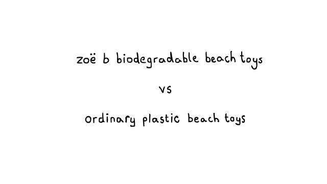 Zoë b Organic Biodegradable Beach Toys