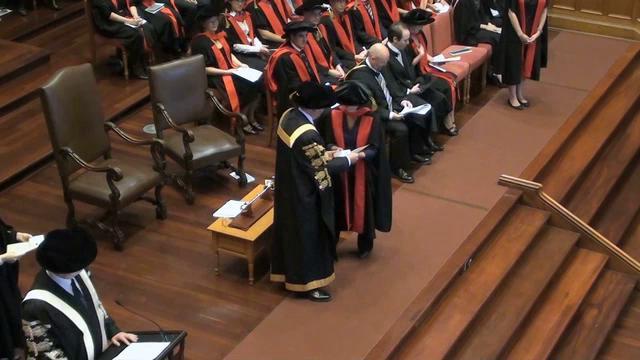 Sixth Graduation Ceremony, 10.00AM, Friday, 15 April 2011 - The University of Adelaide