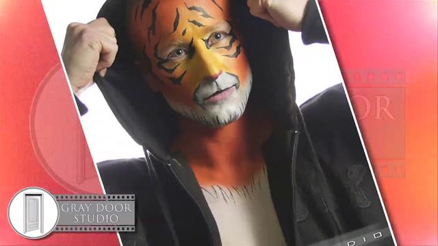 Tiger Body Painting Shoot