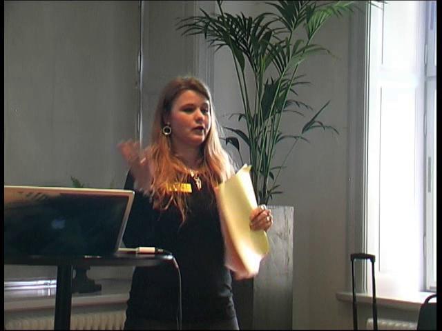 Tanja Bergkvist håller föredrag