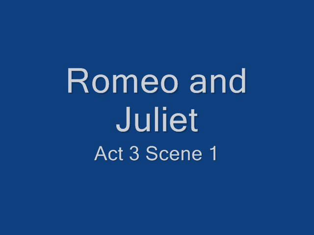 romeo and juliet the fight scene essay Romeo, having married juliet in secrecy, knows that tybalt is now his family too, but tybalt is unaware, shakespeare gives romeo excellent dialogue for romeo who says he will not fight tybalt because he is family, but as tybalt doesn't know of the wedding, he interprets it as something else.