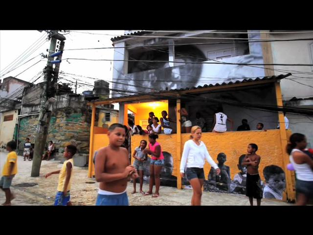JR opens a cultural center in the oldest favela in Rio (shot with EOS 500D)