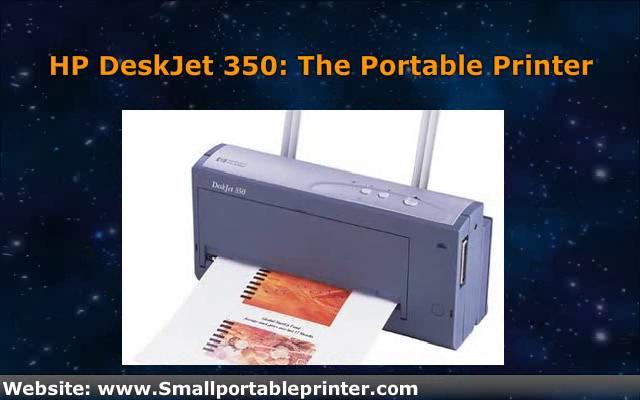 HP DeskJet 350 – The Portable Printer on Vimeo