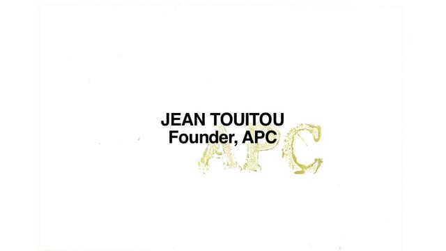 Cool Hunting Video: Jean Touitou, Founder of A.P.C.