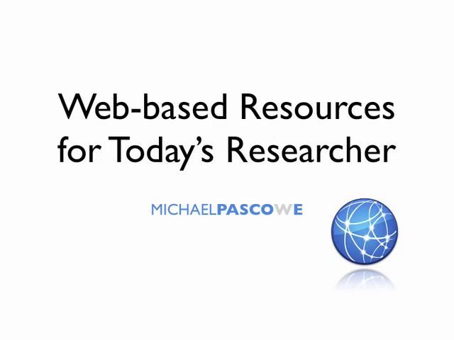 web based resources for today 39 s researcher on vimeo