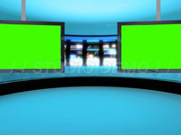 Virtual Set 9 – Center – Center Dual Animated Blue