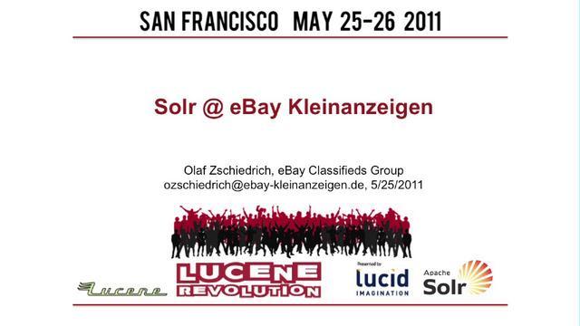 Solr @ eBay Kleinanzeigen, Olaf Zschiedrich, ebayde on Vimeo ~ Geschirr Ebay Kleinanzeigen