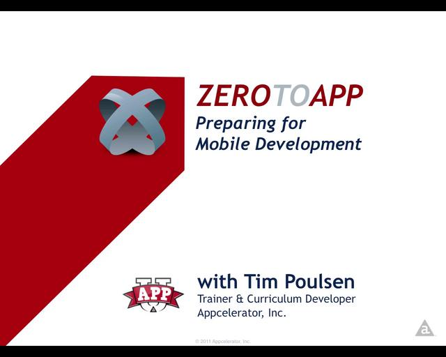 102: Preparing for Mobile Development