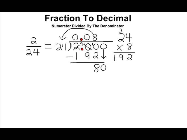 Convert A Fraction Into Its Decimal Equivalent On Vimeo