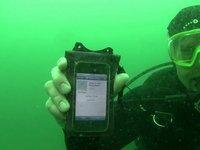 Underwater iPhone